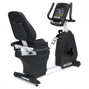 Spirit Fitness CR800ENT Commercial Recumbent Bike with TV